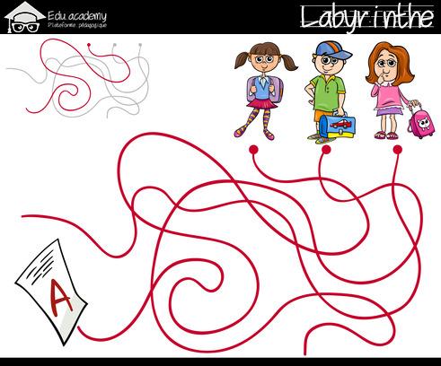 Jeux labyrinthe maternelle et - Jeux labyrinthe a imprimer ...